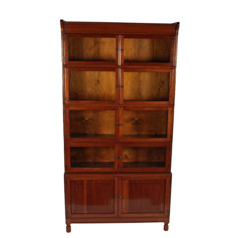 antique stacking bookcase mahogany glazed bookcase