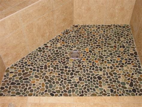 pebble shower floor attractive pebble tile shower floor robinson house