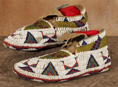 northern plains fully beaded ceremonial moccasins 10 quot
