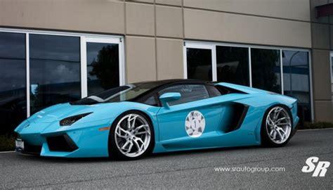 Baby Blue Lamborghini Aventador Baby Blue Lamborghini Aventador Roadster By Sr Auto