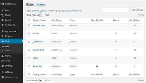 wordpress design editor plugin wordpress user role editor plugin wpfront