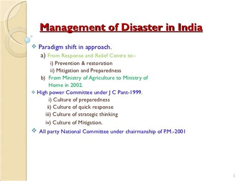 a presentation on quot disaster preparedness and management