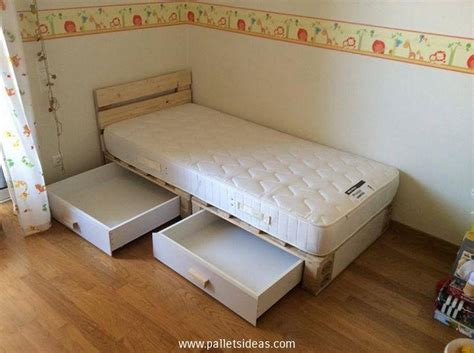 kids pallet bed pallet bed with storage plans recycled things
