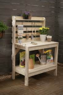 Potters Bench Plans 16 Potting Bench Plans To Make Gardening Work Easy The