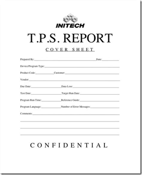 tps report template initech memo new cover sheet for tps reports