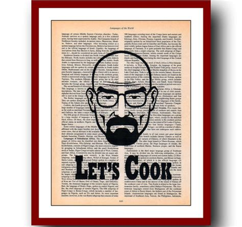 breaking bad home decor breaking bad poster 1 let s cook print kitchen decor home