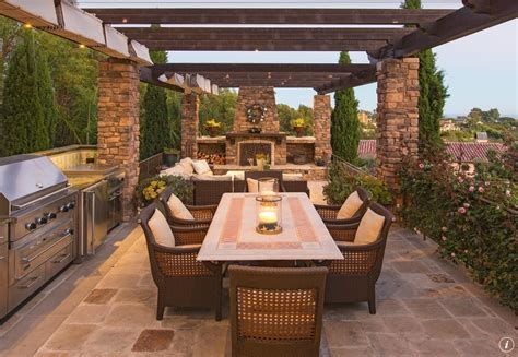 Patio Kitchens Design Patio With Kitchen And Fireplace Outdoorkitchen Patios Homechanneltv Outdoor Living