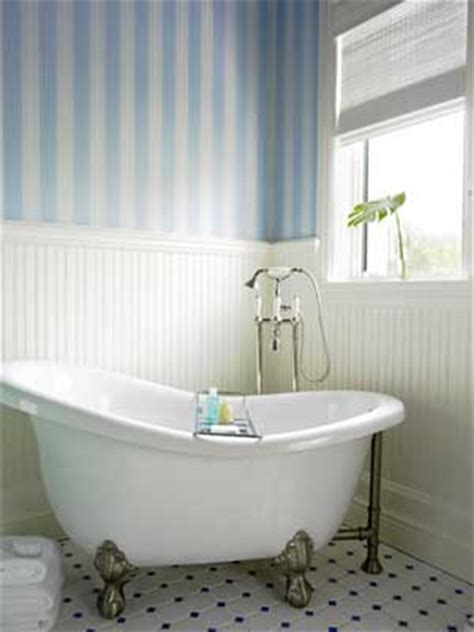 Bathroom Wallpaper Stripes by Watermelon Wine