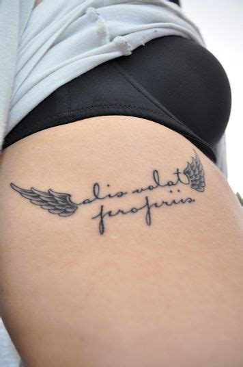 she flies with her own wings tattoo alis volat propriis she flies with own wings