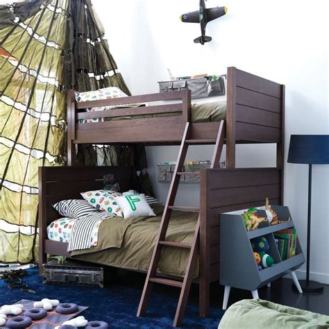 Land Of Nod Bunk Beds Uptown Bunk Bed Brown The Land Of Nod Kid Spaces