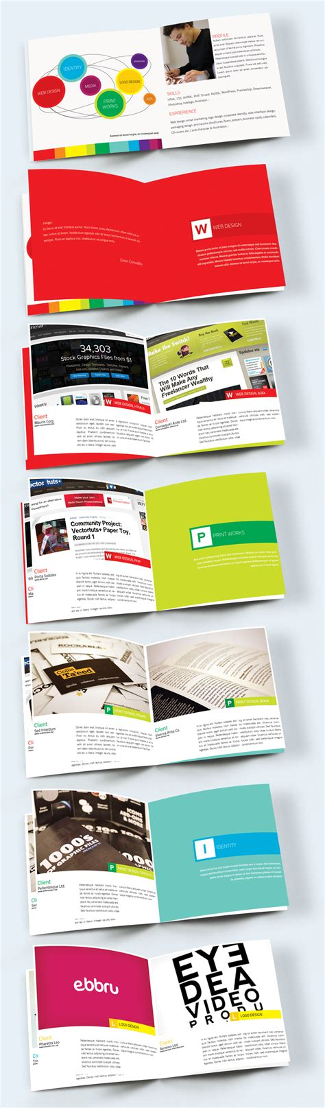 Portfolio Booklet Layout | portfolio booklet brochure