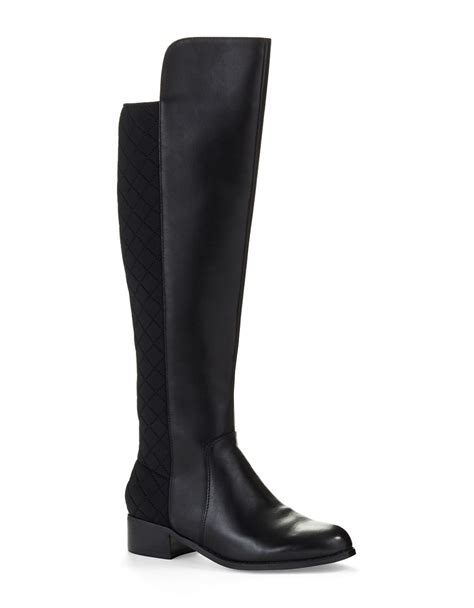 charles by charles david boots charles by charles david jace quilted knee high boots in