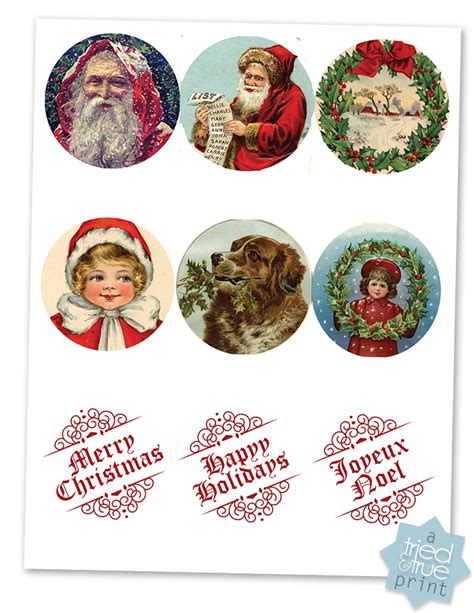 vintage christmas gift tags tried true