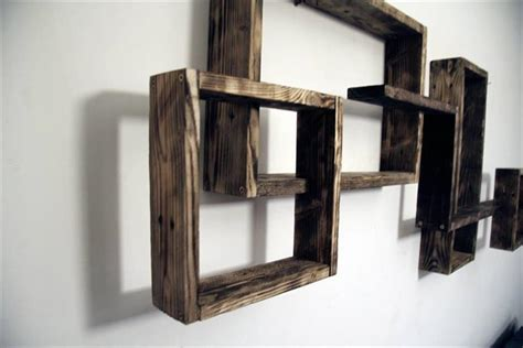 wall mounted shelving units decorative pallet wall shelves unit pallet furniture plans