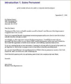 Business Letters Of Introduction Sample 7 Business Introduction Letter Memo Formats