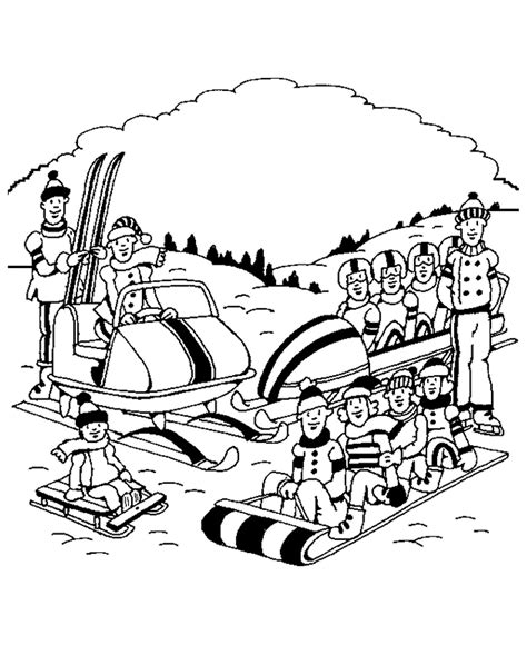 Outdoor Children Activities In Spring Coloring Page Outdoor Coloring Pages
