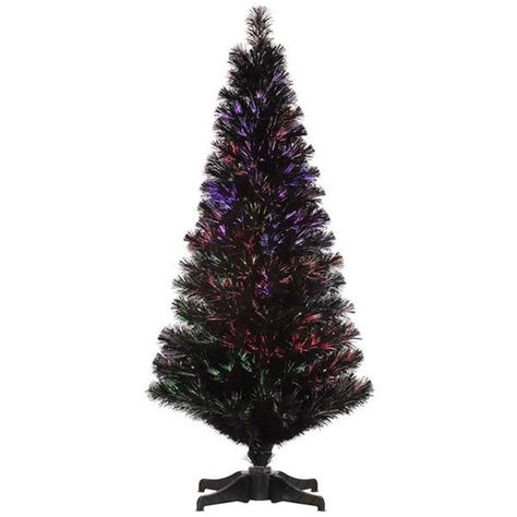 vickerman 27044 4 x 25 quot black fiber optic christmas