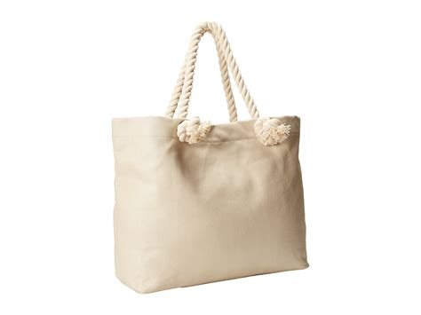 Rope Handle Canvas Tote Bag Intl hat attack canvas tote w rope handles