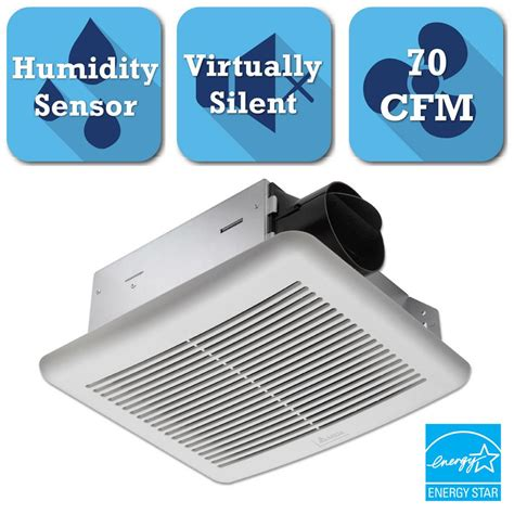 bathroom exhaust fan with humidity sensor delta breez slim series 70 cfm ceiling bathroom exhaust