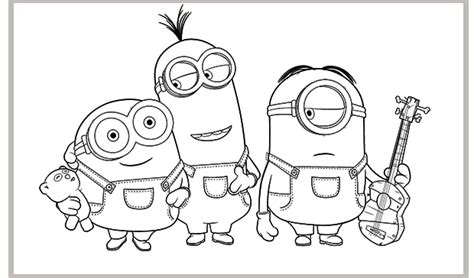 minions coloring pages king bob stuart minion para colorear imagui
