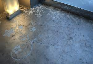 Pretty Painted Floors With Flower Designs Concrete Art Floor From Transparent House Beautiful And