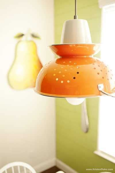 Colander Light Fixture Diy Colander Light Fixture Craftgossip Top Picks Wall Lighting Unique And