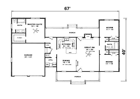 1500 sq ft ranch house plans ranch home country house plans on 1500 sq ft floor 15