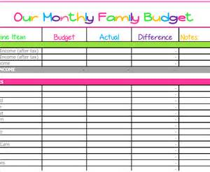 Template Monthly Budget Budget Templates
