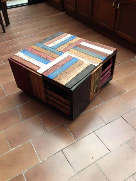 how to a coffee table out of crates pallet wood and crate coffee table