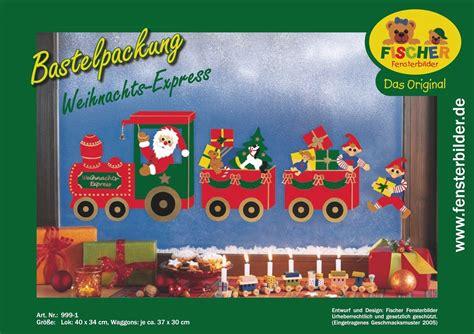 Fensterbilder Zu Weihnachten Bastelvorlagen by Fensterbild Weihnachts Express Fischer Fensterbilder