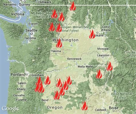 map of oregon 2015 fires inslee says feds will help restore power in zone nw