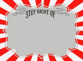 Sign Template Free Printable by Free Carnival Signs Printables Roommomspot