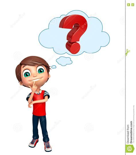 Or Question For A Boy Gar 231 On D Enfant Avec Le Signe De Point D Interrogation Illustration Stock Image 77500314