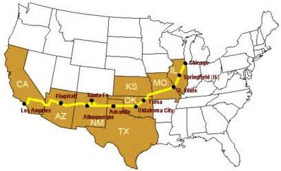 Follow the joads trip on route 66 with the maps below