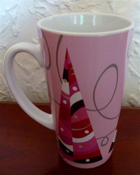 birdsvintageemporium starbucks white open handle set of starbucks pink christmas tree patio coffee mug on storenvy