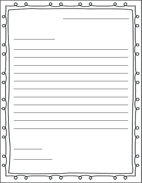 friendly letter writing paper letter writing paper letter writing templates letter