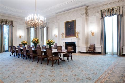 White House State Dining Room In Photos The State Dining Room And Dinners Since 1871 Cctv America