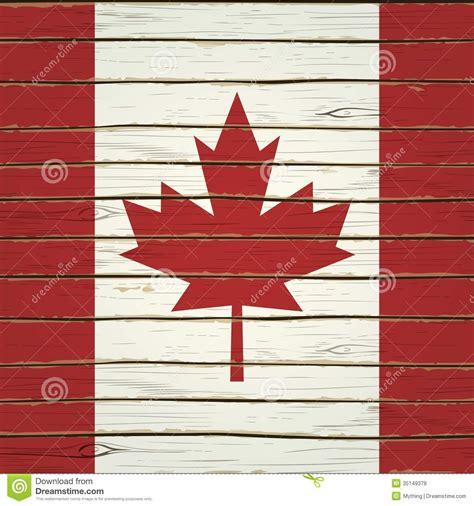 wooden canada canadian flag on wood vector cartoondealer