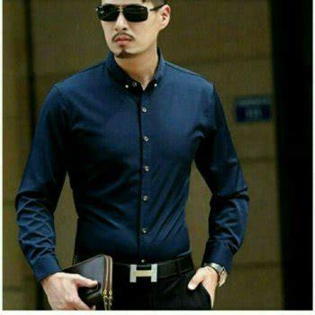 jual beli kemeja andre navy xl baru jual beli baju