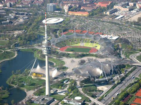 olympiahalle münchen eingang ost file m 252 nchen olympiapark luftbild jpg the