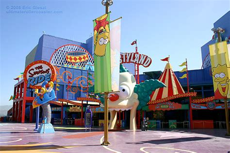 theme park on the simpsons krustyland the simpsons ride