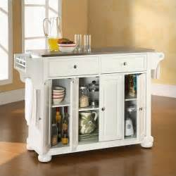 Kitchen Island Top Crosley Alexandria Stainless Steel Top Kitchen Island In