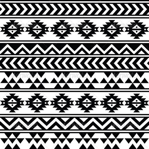 Tribal Pattern Black And White | aztec tribal seamless black and white pattern graphicriver