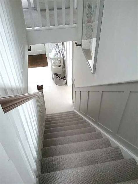 grey contrast  white trim   stair paneling