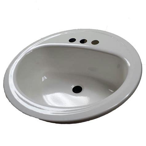 self rimmed bathroom sink bootz industries laurel self rimming bathroom sink in