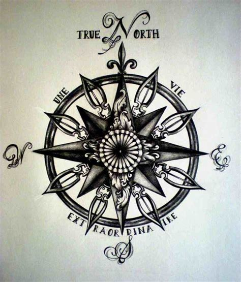 compass tattoo lettering compass tattoo or decal for the trailer or both