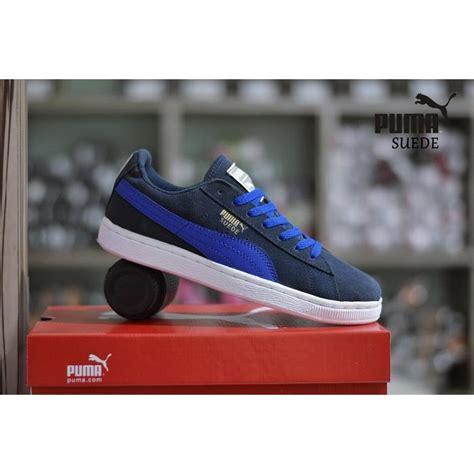 Harga Suede Navy sepatu casual suede grade ori biru navy sneakers