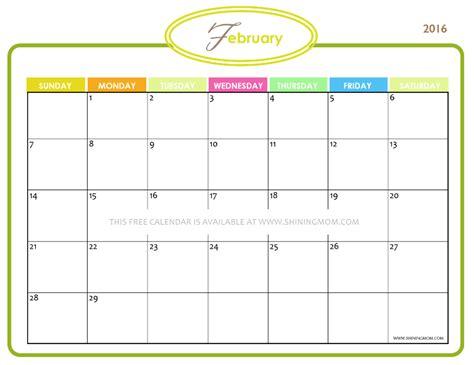 printable calendar 2016 girly definitely lovely free printable february 2016 calendars