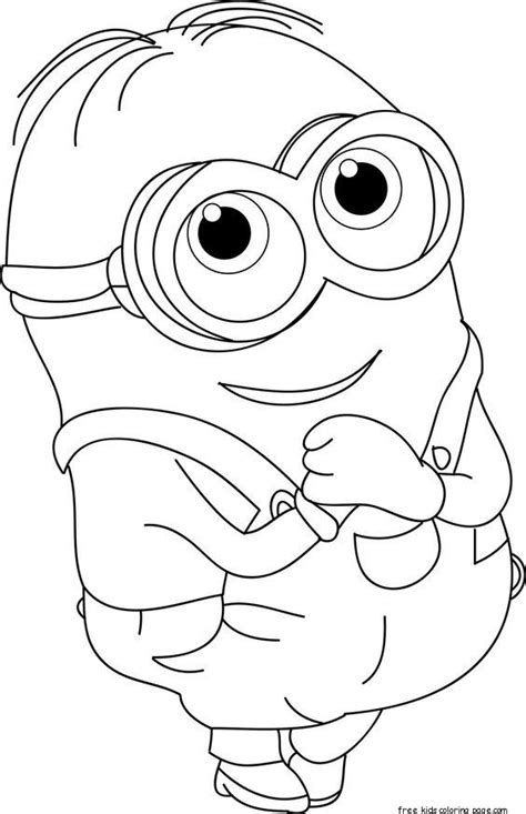 coloring pages of minions to print printable the minions dave coloring page for kids free