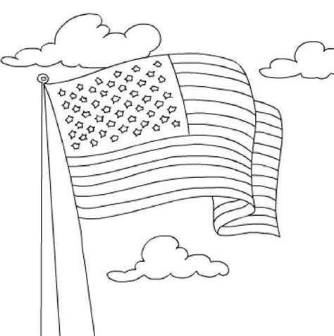 A Coloring Page Of The American Flag by Us Flag Coloring Page